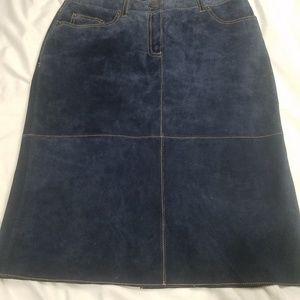 Issac Mizrahi for Target suede leather skirt 6